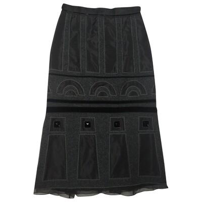 Louis Vuitton silk and wool mid-length skirt