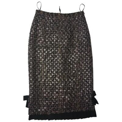 Louis Vuitton wool mid-length skirt
