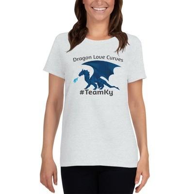 Dragons Love Curves #Team Ky Women's short sleeve t-shirt