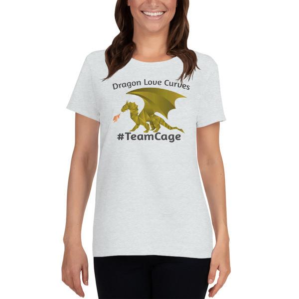 Dragons Love Curves #TeamCage Women's short sleeve t-shirt