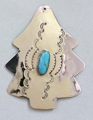 Silver Tree with Turquoise