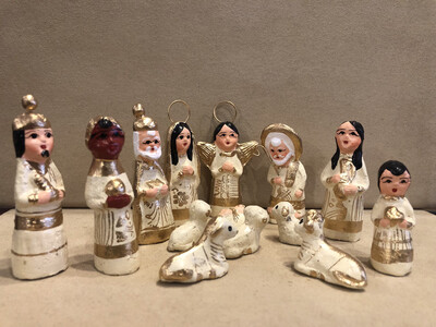 Mexican Clay Nativity - Ivory