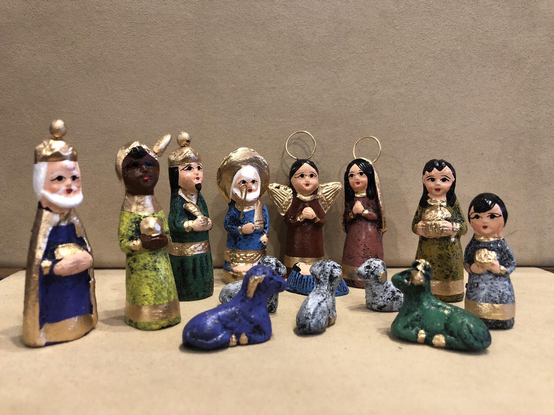 Mexican Clay Nativity - Multicolor