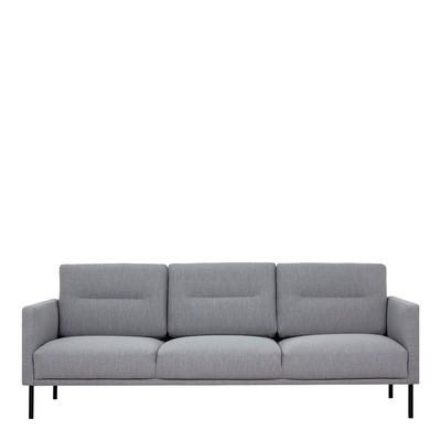Larvik 3 Seater Fabric Sofa Grey
