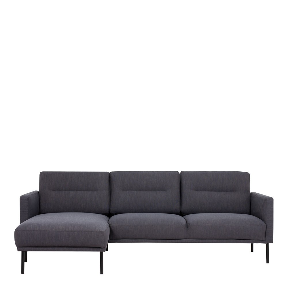 Larvik Chaise longue Fabric Sofa Antracit
