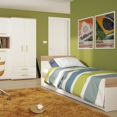 4KIDS Single Bed with Drawer