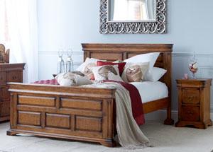Birch Veneer King Size Bed