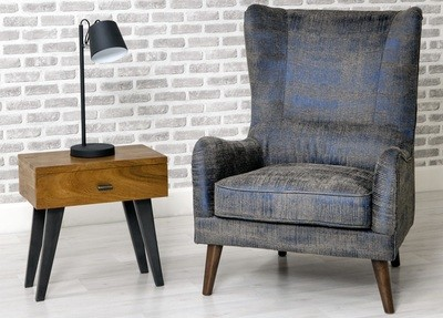 Blue Comfy Accent Chair