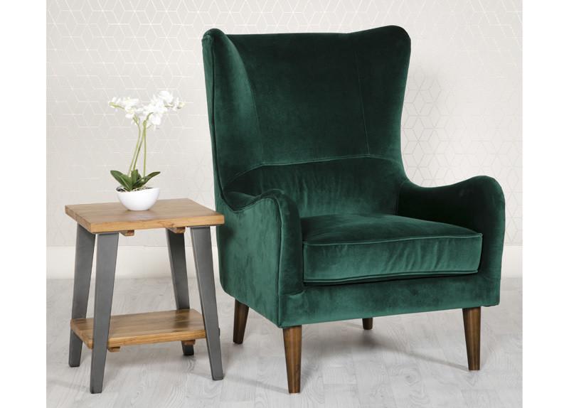 Valvet Green Accent Chair