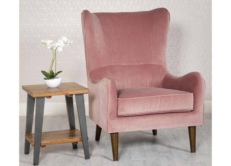 Pink Valvet Accent Chair