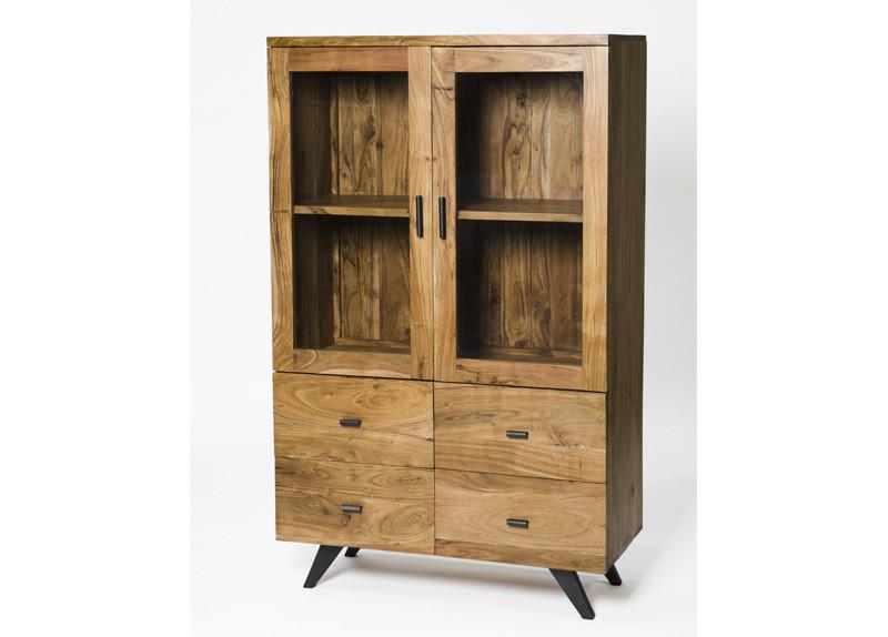 Anacia 2 Doors and 4 Drawers Display Cabinet