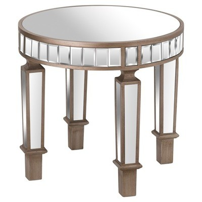 Belfry Mirrored Round Side Table