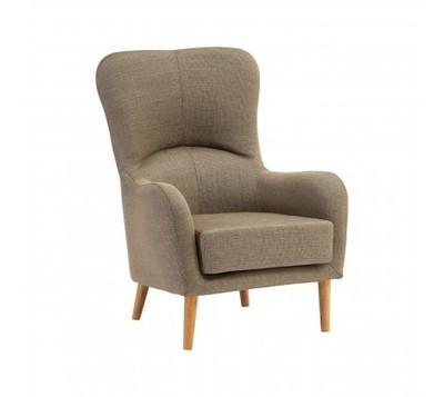 Kolding Mink Fabric Armchair