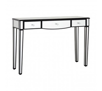 Graciela 3 Drawer Mirrored Glass Console Table