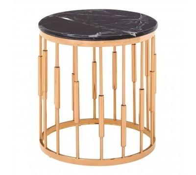 Alvaro Round Copper Side Table