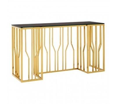 Alvaro Gold & Black Console Table