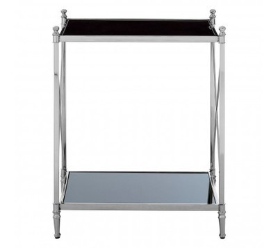 Hoffmann Black Metal Frame Side Table