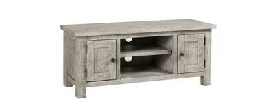 Vancouver Sawn Weathered Grey 2 Door TV Unit with a Shelf