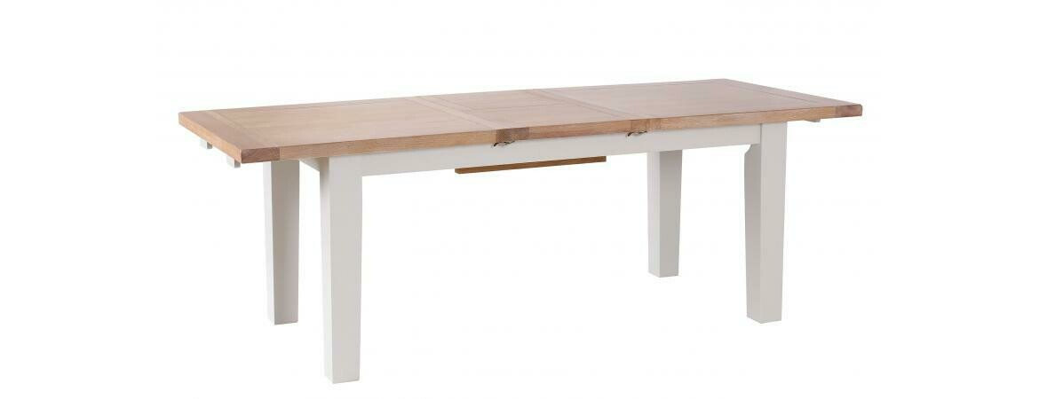Oak & Light Grey Extendable Dining Table 1.8-2.3