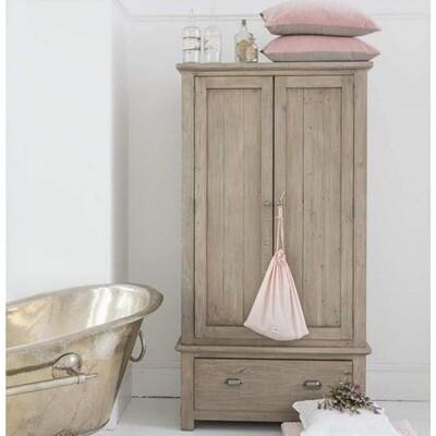 Homestead Pine Double Door Single Drawer Wardrobe