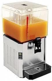 Juice dispenser with single bowl