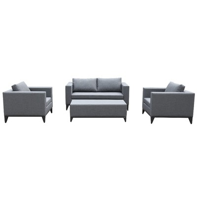 4-Piece Patio Conversation Set with Cushions & Pllows Couches