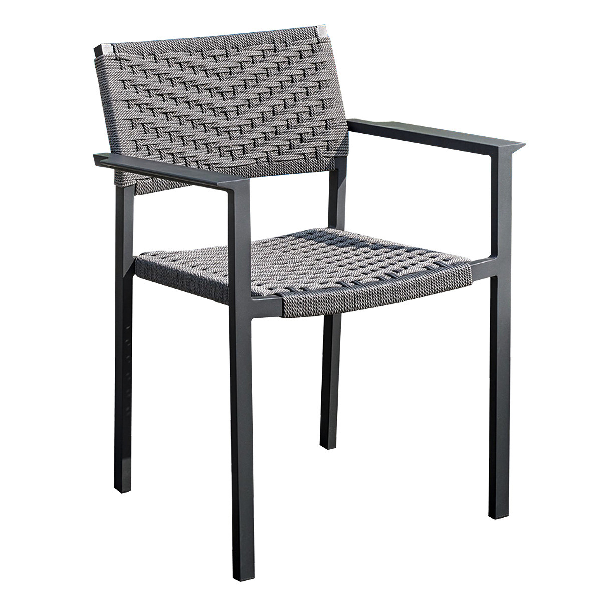 Aluminum Outdoor V Olifen Chair with Arm and Back