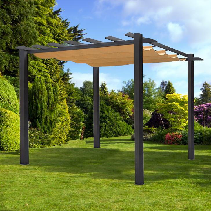 Vanrios Modern Aluminum Outdoor Pergola Shade Free Standing