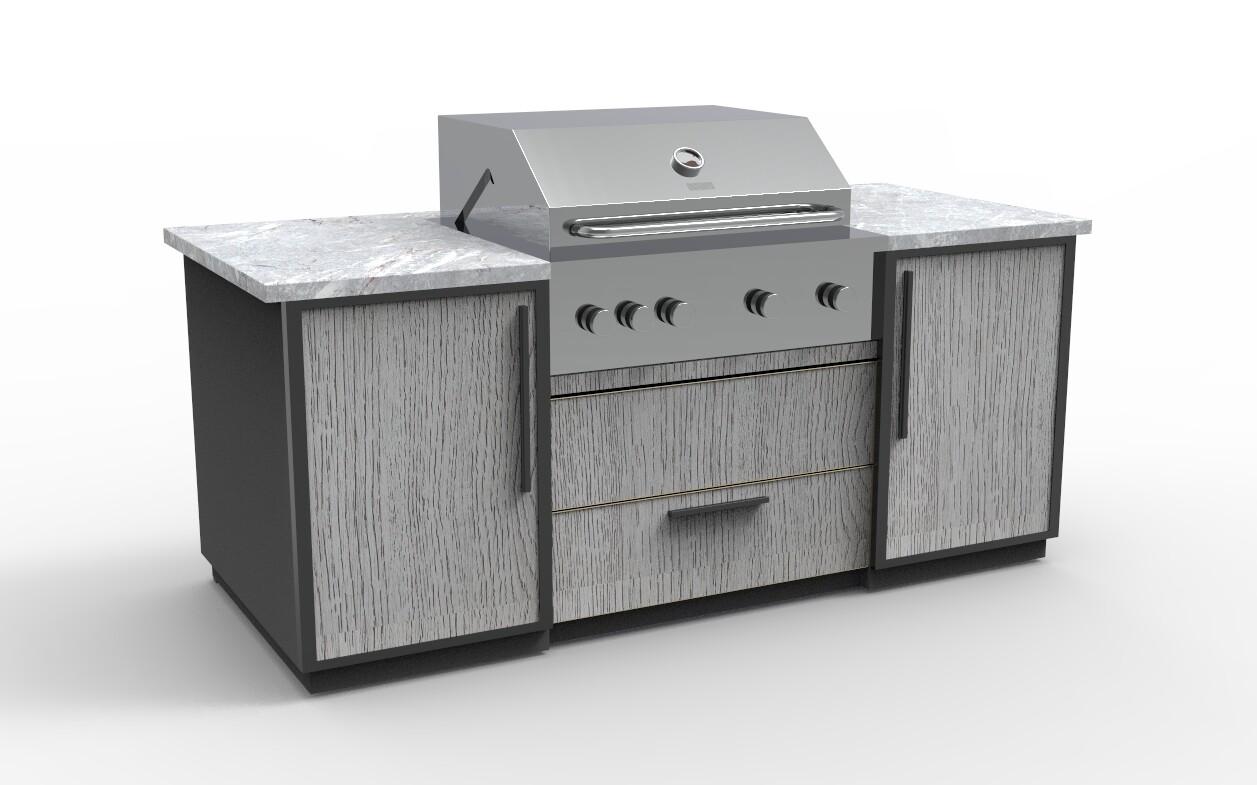 Vanrios Modern Outdoor Kitchen Island KI06