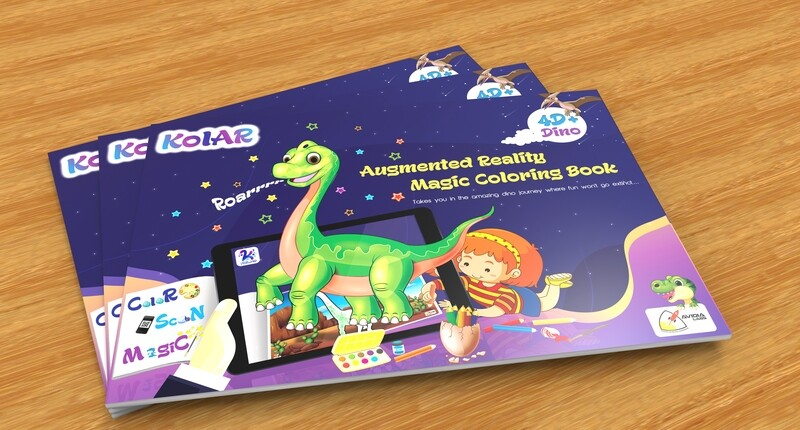 Avidia KolAR - 4D+ Augmented Reality Dino Color Book