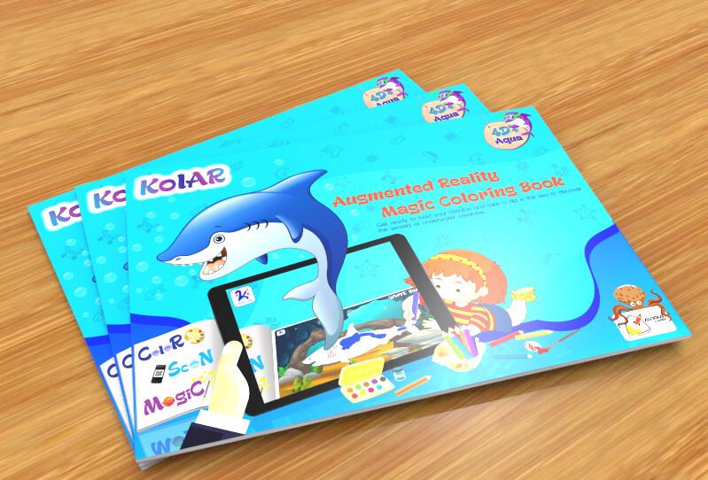 Avidia KolAR - 4D+ Augmented Reality Aqua Color Book