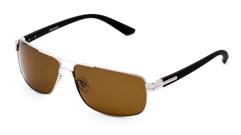 Солнцезащитные поляризационные очки POLARMASTER, PL02 L1 серебристо-черный