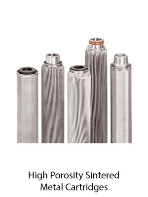 High Porosity Sintered Metal Cartridges