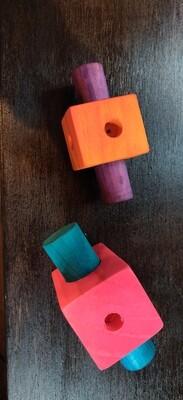 Medium Square Peg Foot Toy