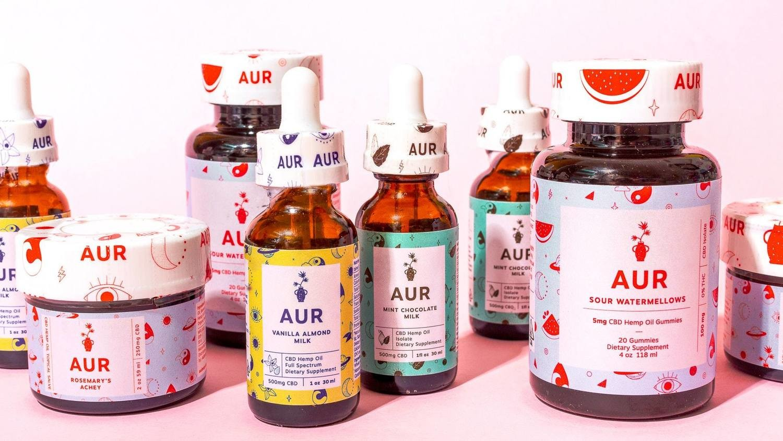 AUR CBD Oil Drops- Almond Milk- Full Spectrum 500MG