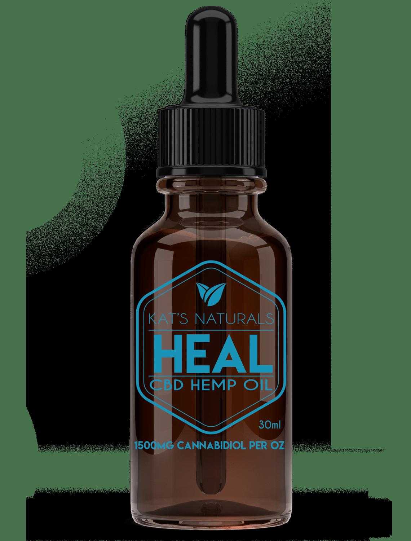 Kat's Naturals CBD Oil - Heal 1500 MG (30ml)