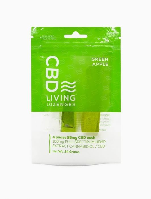 CBD Living Lozenge 100MG CBD -Apple