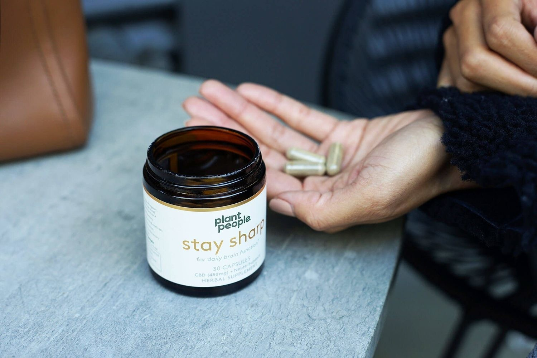 Plant People Stay Sharp CBD Capsules