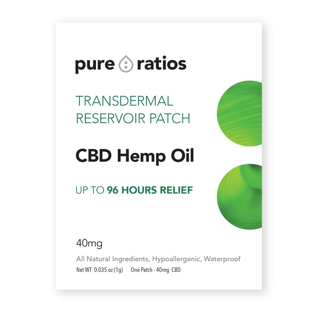Pure Ratios CBD Oil Pain Patch -40MG