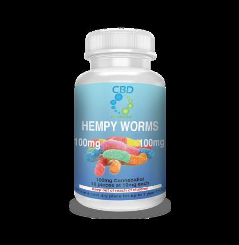 CBD Infusionz 100MG Hempy Worms- Full Spectrum