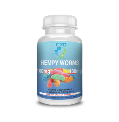 CBD Infusionz 100MG Hempy Worms- Full Spectrum