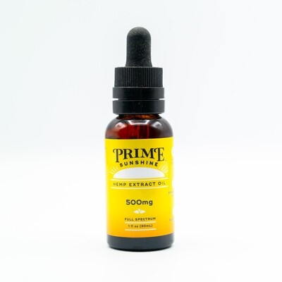 Prime Sunshine Full-Spectrum CBD Oil - 500MG