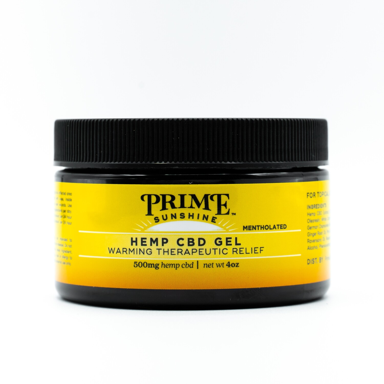 Prime Sunshine CBD Pain Gel -500mg CBD