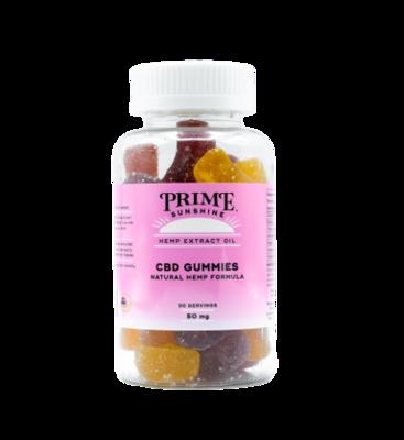 Prime Sunshine Full Spectrum CBD Gummies - 1500mg (50mg per gummy)