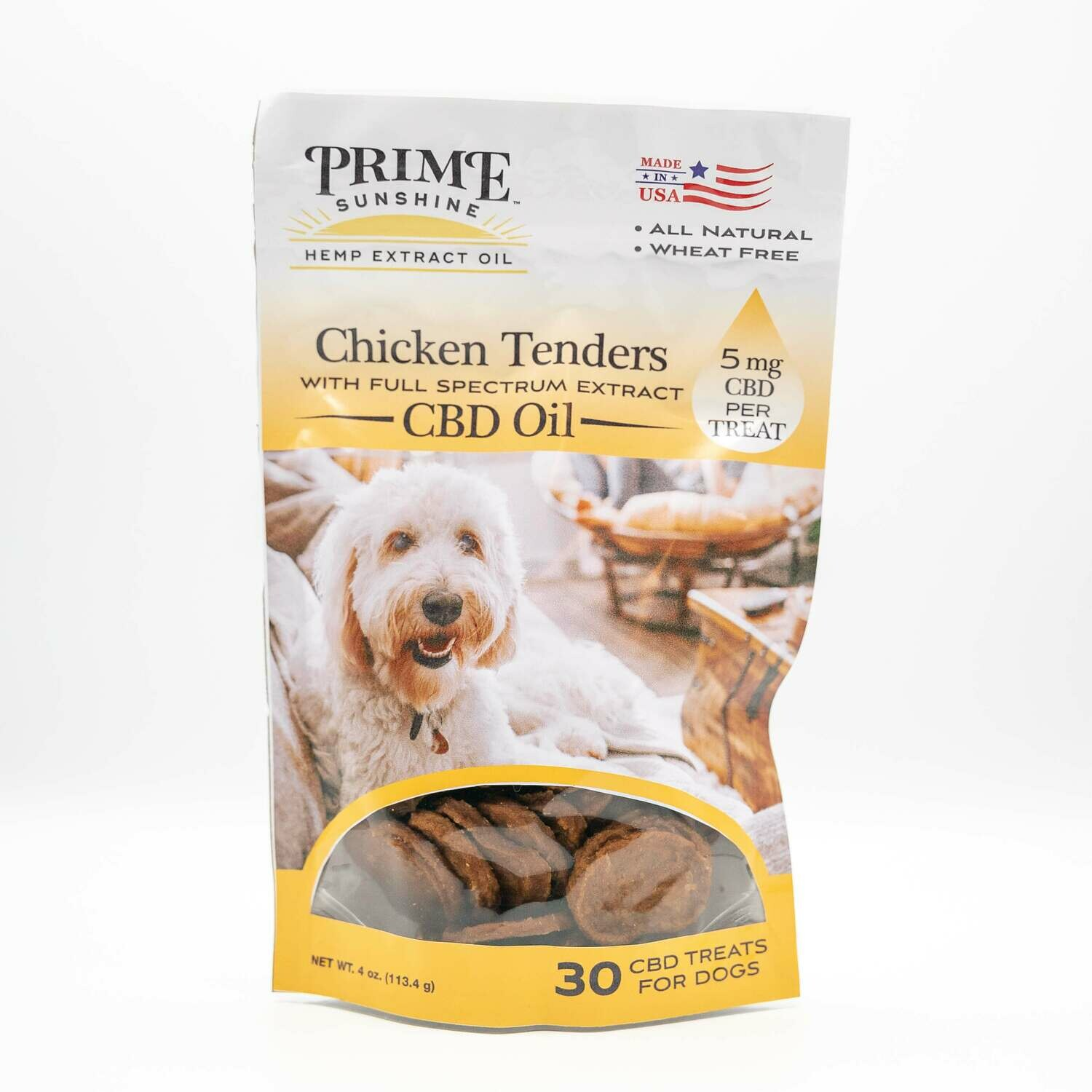 Prime Sunshine Pet CBD Chicken Treats - Grain Free