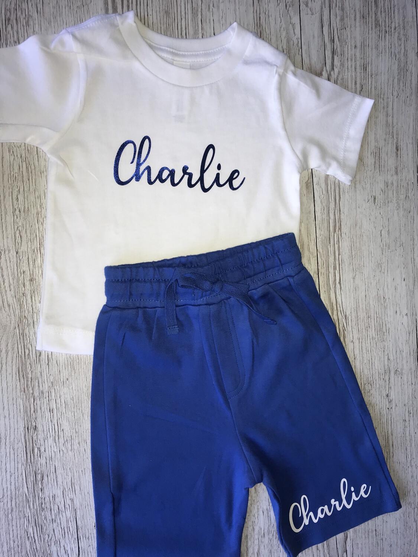 Signature Name T-shirt And Shorts Set