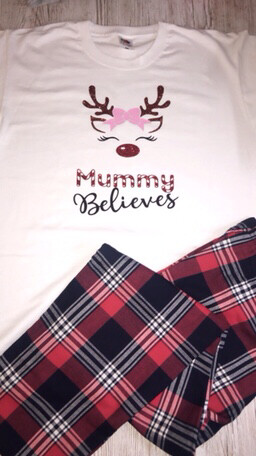 Tartan Red And Black Family Matching Pjs
