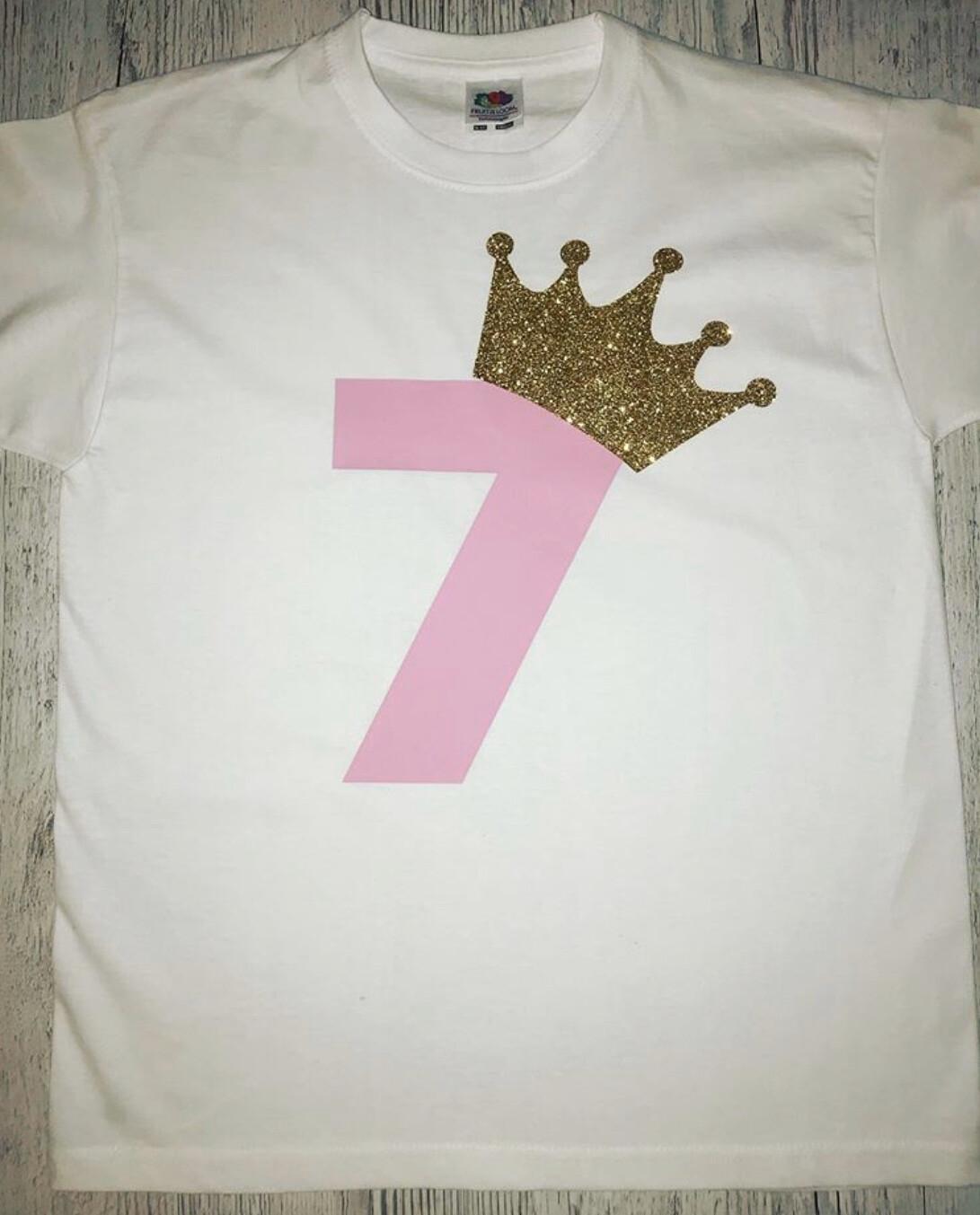 Birthday Number & Crown