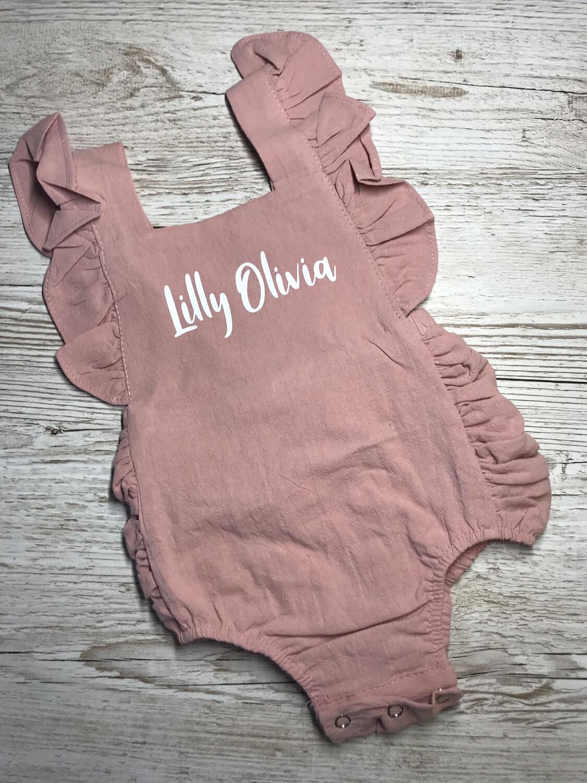 Baby/toddler  Circle design Frilly Romper