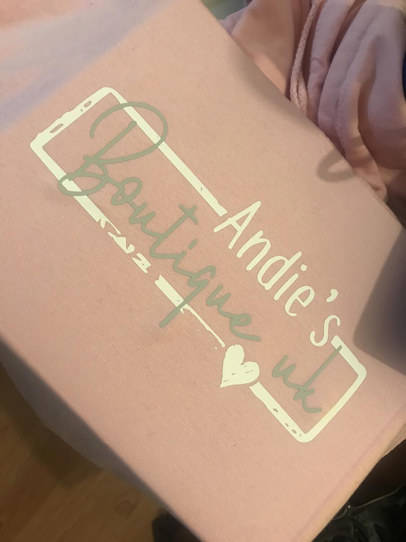 Andie's Boutique Uk Logo Hoodie